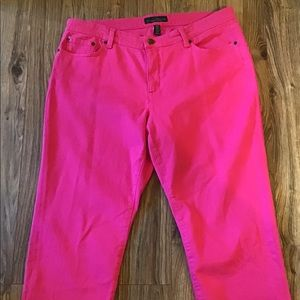 Lauren Ralph Lauren Pink Classic Straight Cropped